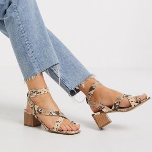 Faux Snake Sandals