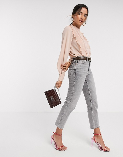 Pleated-blouse